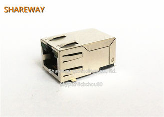 Ethernet Magnetic Rj45 Female Connector 90 Degree Socket